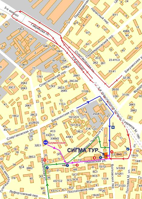 Карта проезда в ООО фирма